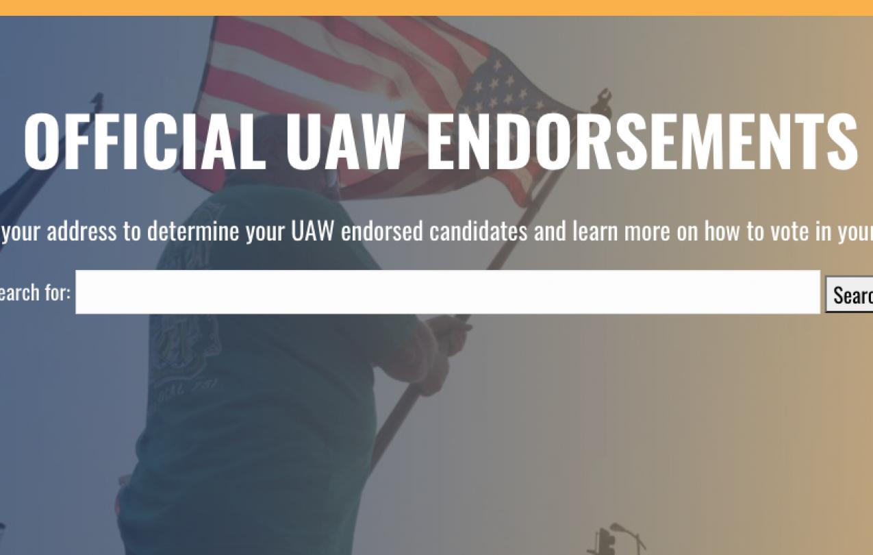 UAW Endorsements