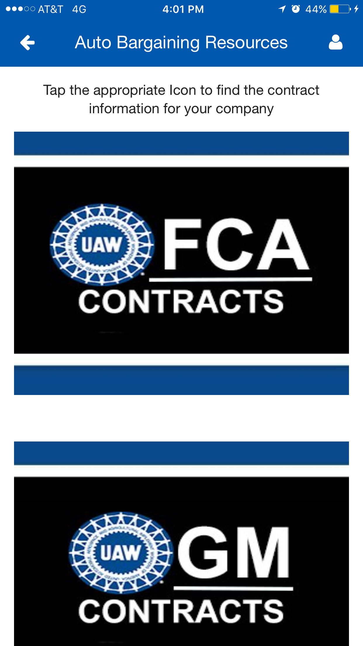 Big 3 Contracts now on the UAW App